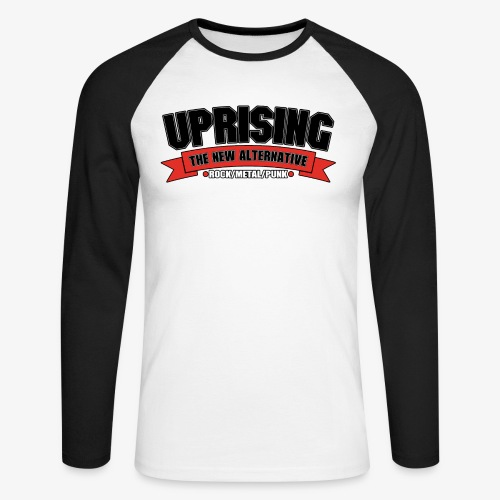 Hi-Res Logo w/ Stroke 2 - Men's Long Sleeve Baseball T-Shirt