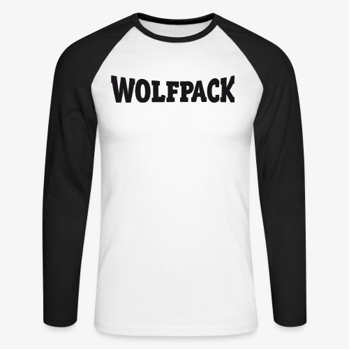 Wolfpack Schriftzug - Männer Baseballshirt langarm