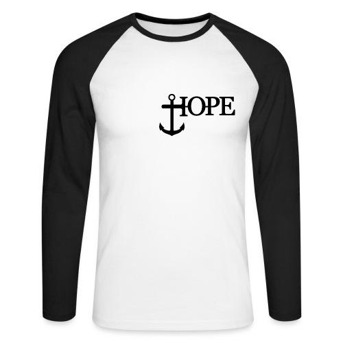 Hope Anker Anchor Hoffnung - Männer Baseballshirt langarm
