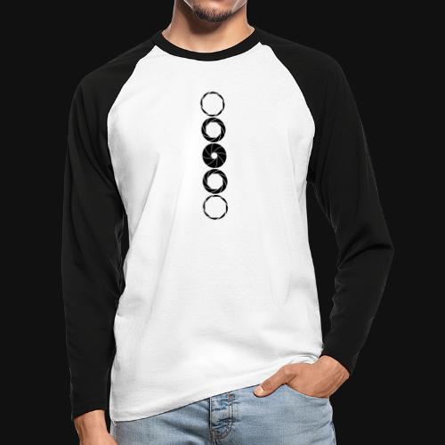 Aperture Range - Männer Baseballshirt langarm