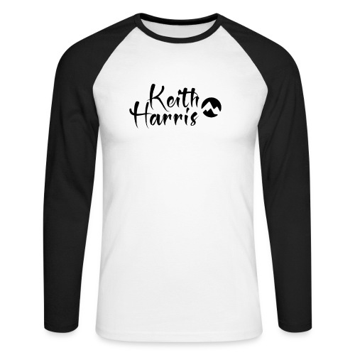 Keith Harris Logo - Men's Long Sleeve Baseball T-Shirt