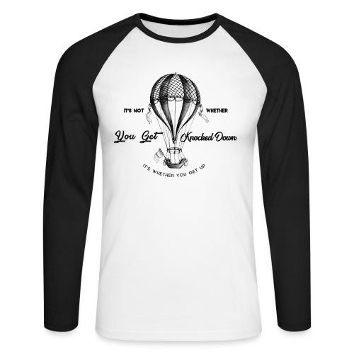 balon - Koszulka męska bejsbolowa z długim rękawem