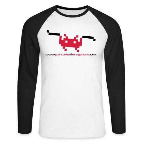 ts pacmanzipline - Men's Long Sleeve Baseball T-Shirt