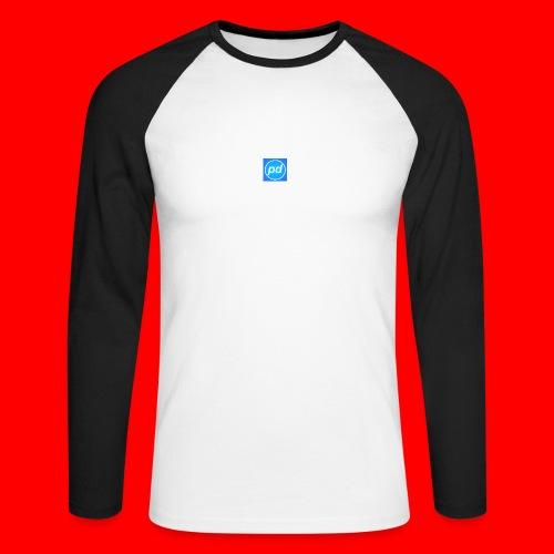 pd Blue V2 - Langærmet herre-baseballshirt