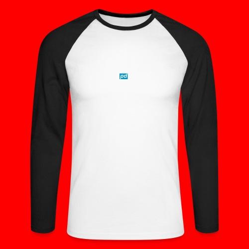 pd Blue - Langærmet herre-baseballshirt