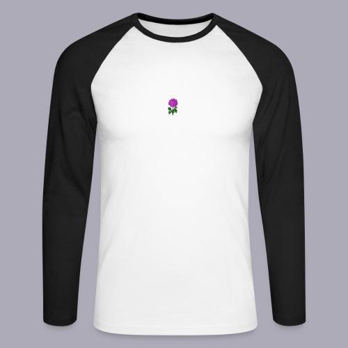 Landryn Design - Pink rose - Men's Long Sleeve Baseball T-Shirt