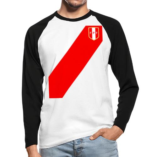 Seleccion peruana de futbol (Recto-verso) - Men's Long Sleeve Baseball T-Shirt