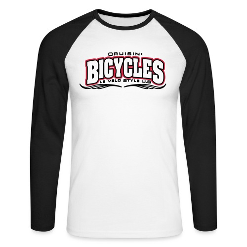 logo cruisin bicycles chris3 - T-shirt baseball manches longues Homme
