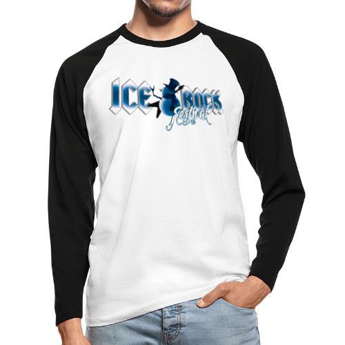 Schriftzug normal - Männer Baseballshirt langarm