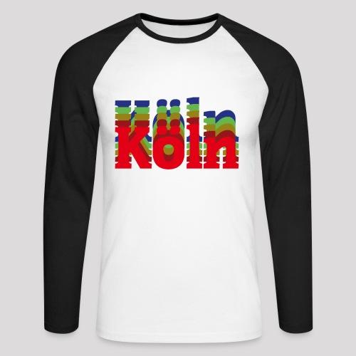Köln - Stadtnamen rot - Männer Baseballshirt langarm