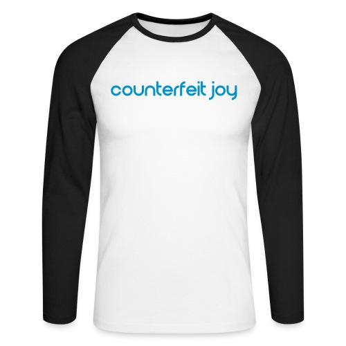 Counterfeit Joy text logo - Men's Long Sleeve Baseball T-Shirt