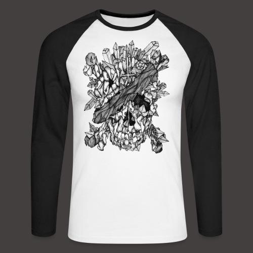 Crane de Pirate de Cristal Noir et Blanc - T-shirt baseball manches longues Homme