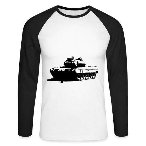 Leopard 2 Kampfpanzer - Stridsvagn 122 - Långärmad basebolltröja herr