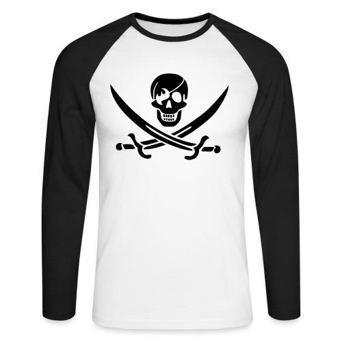 a pirate s life for me - Männer Baseballshirt langarm