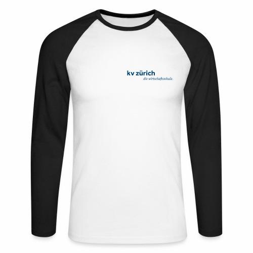 KVZ Logo Blau - Männer Baseballshirt langarm