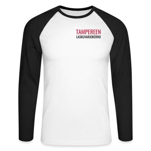 Teksti TAMLK logo CMYK - Miesten pitkähihainen baseballpaita