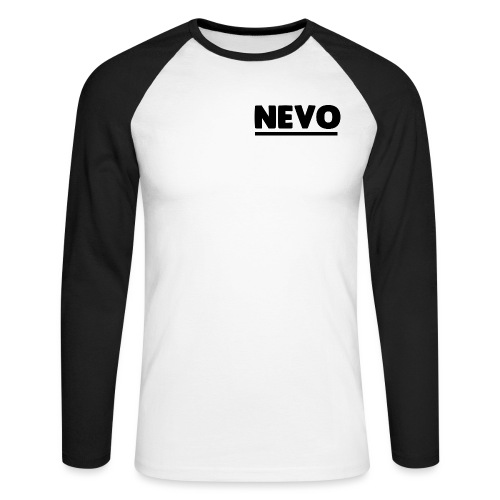 nevo underline black - Men's Long Sleeve Baseball T-Shirt