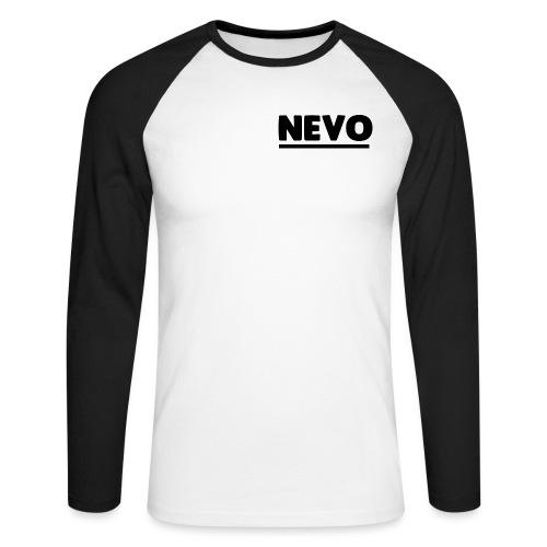 nevo underline black - Men's Long Sleeve Baseball T-Shirt
