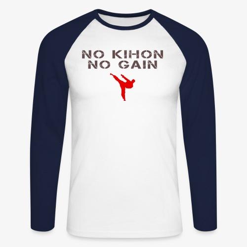 NO KIHON NO GAIN - T-shirt baseball manches longues Homme