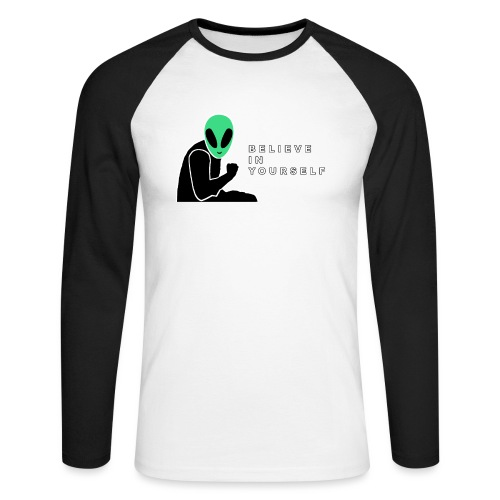 Believe In Yourself - Men's Long Sleeve Baseball T-Shirt