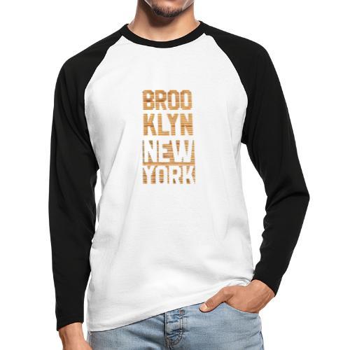Brooklyn New York - Männer Baseballshirt langarm