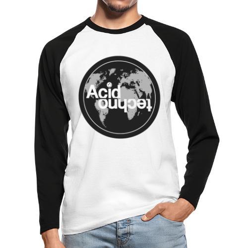 acid world clear - Koszulka męska bejsbolowa z długim rękawem