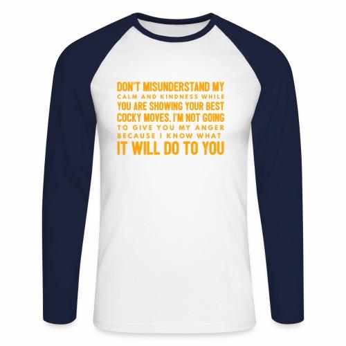 confidence - Langærmet herre-baseballshirt