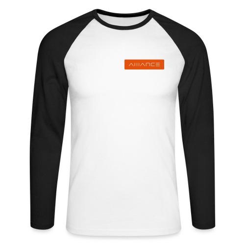 Retro Logotype - Men's Long Sleeve Baseball T-Shirt