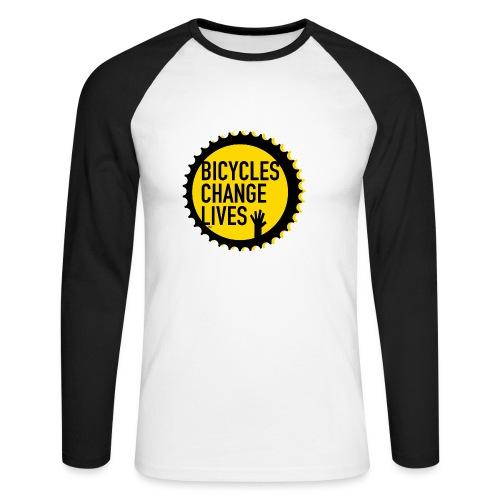 BCL Shirt Back White - Men's Long Sleeve Baseball T-Shirt