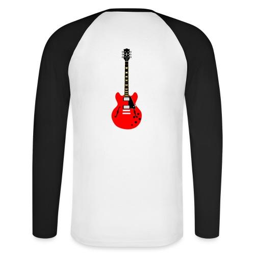 Guitare dos / Vully Blues classique poitrine - Männer Baseballshirt langarm