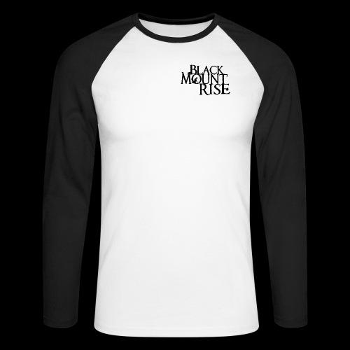 BMR Schriftzug png sw - Männer Baseballshirt langarm