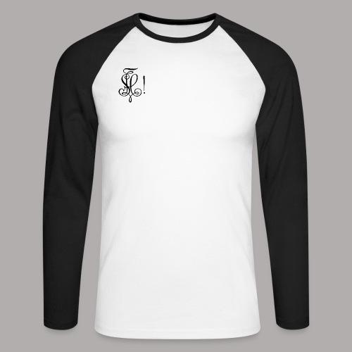 Zirkel, schwarz (vorne) Zirkel, schwarz (hinten) - Männer Baseballshirt langarm