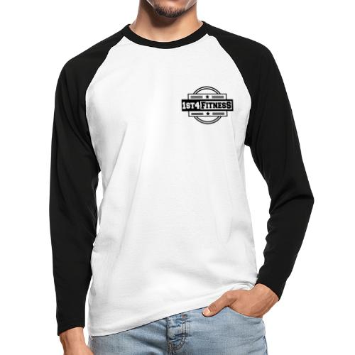 1st4Fitness black - Men's Long Sleeve Baseball T-Shirt