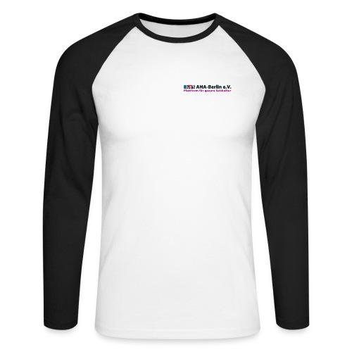 Logo Flach - Männer Baseballshirt langarm
