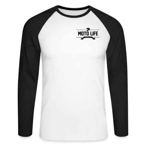 MOTO LIFE Schwarz - Männer Baseballshirt langarm