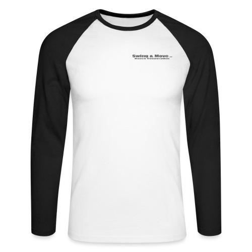 logo 2 grau - Männer Baseballshirt langarm