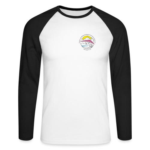 logo dgffn hg weiss transparent - Männer Baseballshirt langarm