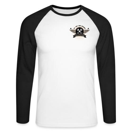 motorbikemap_logo_brown - Männer Baseballshirt langarm