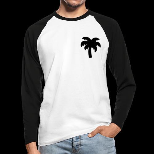 Palm Basic Black - Langærmet herre-baseballshirt
