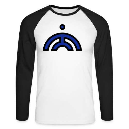 svg - GWOK MONK - Line and Fill - Men's Long Sleeve Baseball T-Shirt