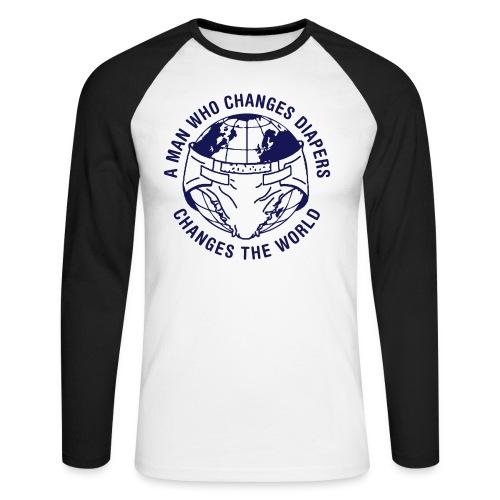 diaperchange2 - Mannen baseballshirt lange mouw