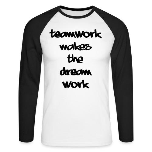 Teamwork - Mannen baseballshirt lange mouw