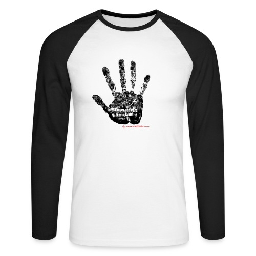 Finger schwarz Karre läuft 1 - Männer Baseballshirt langarm