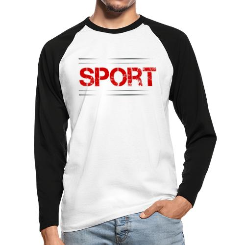 Sport - Männer Baseballshirt langarm
