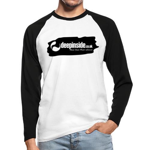 deepinside world reference marker logo black - Men's Long Sleeve Baseball T-Shirt