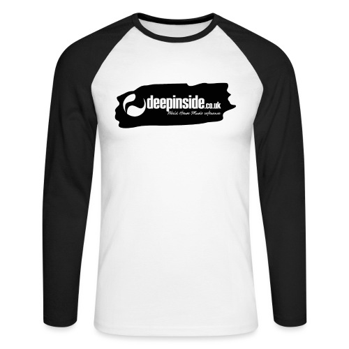 deepinside world reference marker logo black - Men's Long Sleeve Baseball T-Shirt