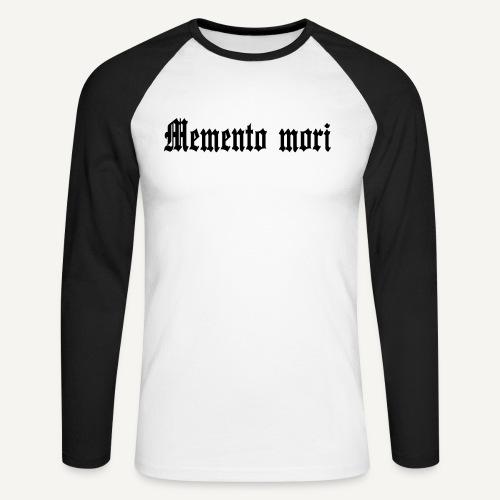 mementomori - Koszulka męska bejsbolowa z długim rękawem