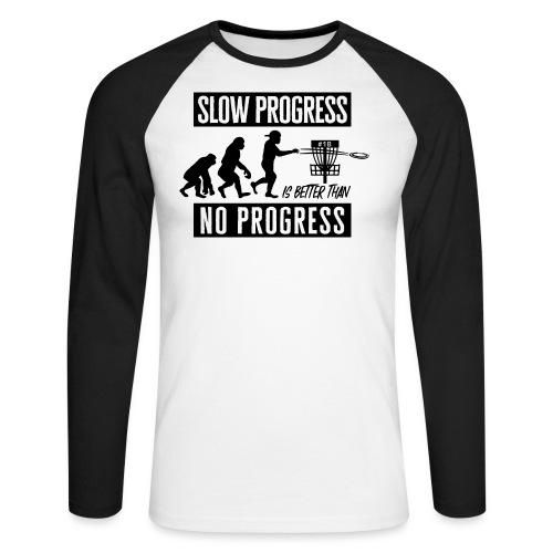 Disc golf - Slow progress - Black - Miesten pitkähihainen baseballpaita