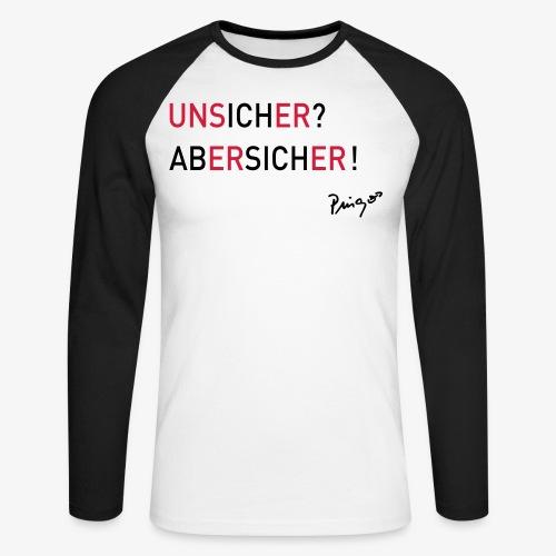 unsicher 02 print - Männer Baseballshirt langarm