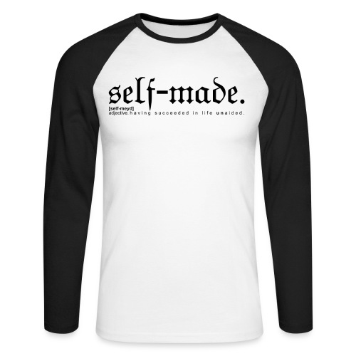 SELF-MADE WB - Men's Long Sleeve Baseball T-Shirt